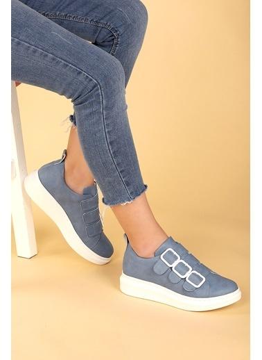 Ayakland Ayakland 101 Günlük Kemerli Bayan Spor Ayakkabı Mavi